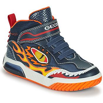 鞋子 男孩 高帮鞋 Geox 健乐士 INEK 海蓝色 / 红色