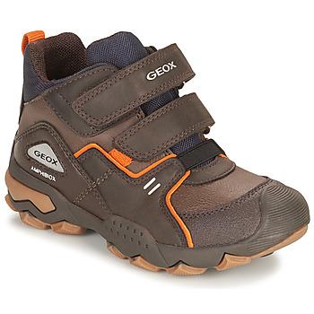 鞋子 男孩 短筒靴 Geox 健乐士 BULLER ABX 棕色