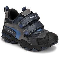 鞋子 男孩 短筒靴 Geox 健乐士 BULLER ABX 海蓝色 / 灰色