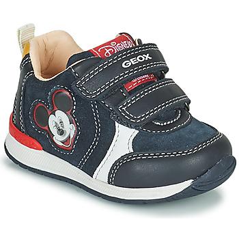 鞋子 男孩 球鞋基本款 Geox 健乐士 RISHO 海蓝色