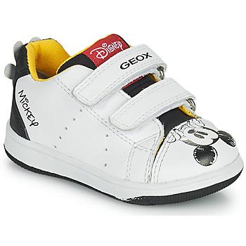 鞋子 男孩 球鞋基本款 Geox 健乐士 NEW FLICK 白色 / 黑色 / 红色