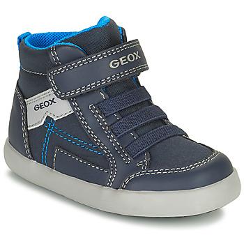 鞋子 男孩 高帮鞋 Geox 健乐士 GISLI 海蓝色