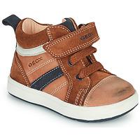 鞋子 男孩 高帮鞋 Geox 健乐士 BIGLIA 棕色