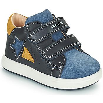 鞋子 男孩 球鞋基本款 Geox 健乐士 BIGLIA 海蓝色