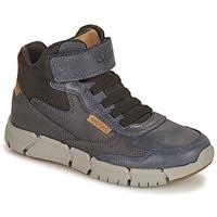 鞋子 男孩 短筒靴 Geox 健乐士 FLEXYPER 海蓝色 / 驼色