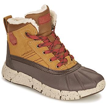 鞋子 男孩 短筒靴 Geox 健乐士 FLEXYPER ABX 棕色