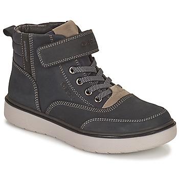 鞋子 男孩 短筒靴 Geox 健乐士 RIDDOCK WPF 海蓝色