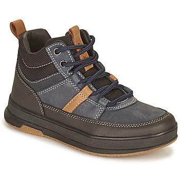 鞋子 男孩 短筒靴 Geox 健乐士 ASTUTO 海蓝色