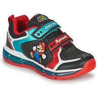 鞋子 男孩 球鞋基本款 Geox 健乐士 ANDROID 黑色 / 蓝色 / 红色