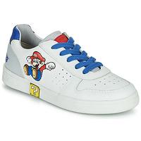 鞋子 男孩 球鞋基本款 Geox 健乐士 DJROCK 白色 / 蓝色