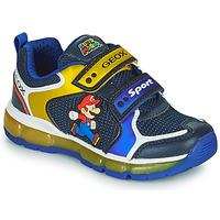 鞋子 男孩 球鞋基本款 Geox 健乐士 ANDROID 蓝色 / 黄色