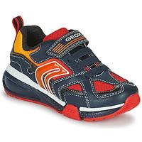 鞋子 男孩 球鞋基本款 Geox 健乐士 BAYONYC 海蓝色 / 橙色