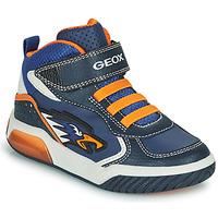 鞋子 男孩 高帮鞋 Geox 健乐士 INEK 海蓝色 / 橙色