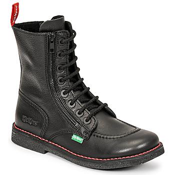 鞋子 女士 都市靴 Kickers MEETICKZIP 黑色 /  mat