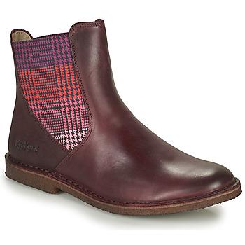 鞋子 女士 短筒靴 Kickers TINTO 波尔多红 / Fonce
