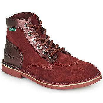 鞋子 女士 短筒靴 Kickers ORILEGEND 波尔多红 / Fonce
