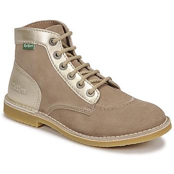 鞋子 女士 短筒靴 Kickers ORILEGEND 米色