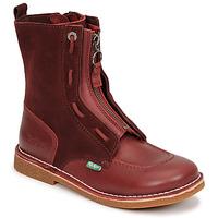 鞋子 女士 短筒靴 Kickers MEETICKROCK 波尔多红 / Fonce