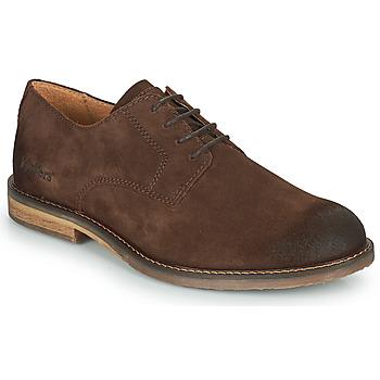 鞋子 男士 系带短筒靴 Kickers ALPHAPEN 棕色