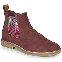 鞋子 女士 短筒靴 Kickers TYGA 波尔多红