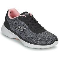 鞋子 女士 球鞋基本款 Skechers 斯凯奇 GO WALK 6 灰色 / 玫瑰色