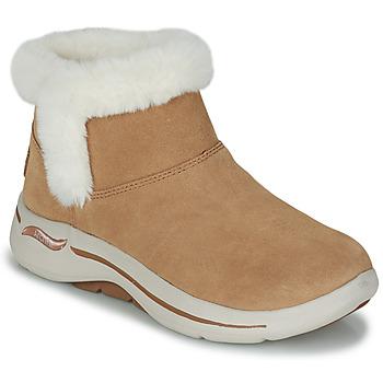 鞋子 女士 短筒靴 Skechers 斯凯奇 GO WALK ARCH FIT 棕色