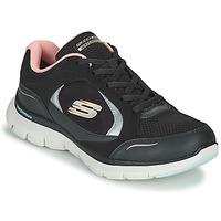 鞋子 女士 球鞋基本款 Skechers 斯凯奇 FLEX APPEAL 4.0 黑色 / 玫瑰色