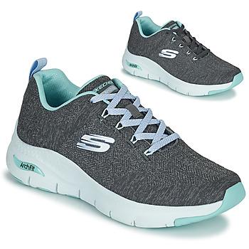 鞋子 女士 球鞋基本款 Skechers 斯凯奇 ARCH FIT 灰色 / 蓝色