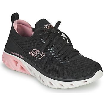 鞋子 女士 球鞋基本款 Skechers 斯凯奇 GLIDE-STEP SPORT 黑色 / 玫瑰色