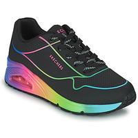 鞋子 女士 球鞋基本款 Skechers 斯凯奇 UNO 黑色 / 多彩