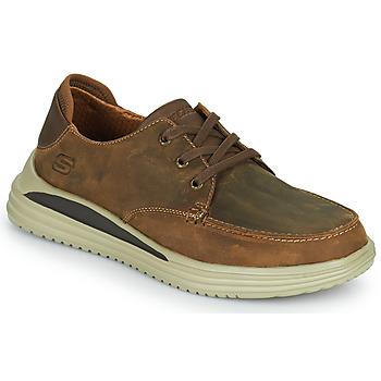 鞋子 男士 球鞋基本款 Skechers 斯凯奇 PROVEN 棕色
