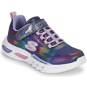鞋子 女孩 球鞋基本款 Skechers 斯凯奇 GLOW-BRITES 海蓝色 / Led
