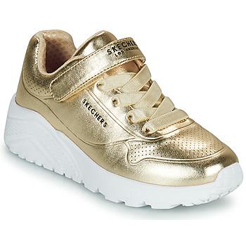 鞋子 女孩 球鞋基本款 Skechers 斯凯奇 UNO LITE 金色