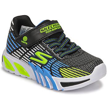 鞋子 男孩 球鞋基本款 Skechers 斯凯奇 FLEX-GLOW ELITE 黑色 / 蓝色 / Led