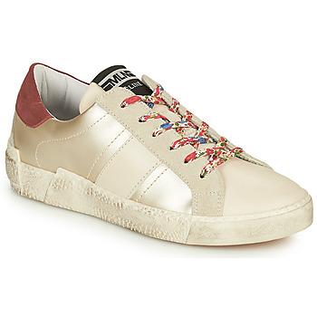 鞋子 女士 球鞋基本款 Meline  白色 / 花