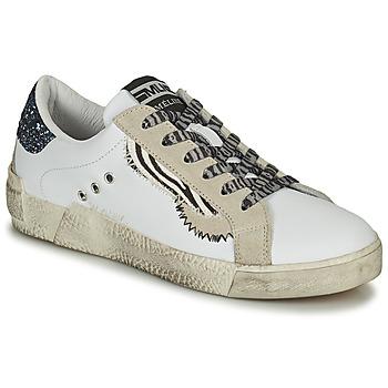 鞋子 女士 球鞋基本款 Meline  白色 / 金色 / 蓝色
