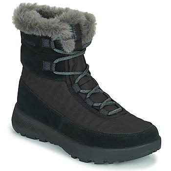 鞋子 女士 雪地靴 Columbia 哥伦比亚 SLOPESIDE PEAK LUXE 黑色