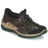 鞋子 女士 球鞋基本款 Rieker 瑞克尔 ALINDA 古銅色 / 黑色