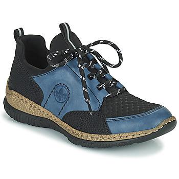 鞋子 女士 球鞋基本款 Rieker 瑞克尔 MEDONNA 蓝色 / 黑色
