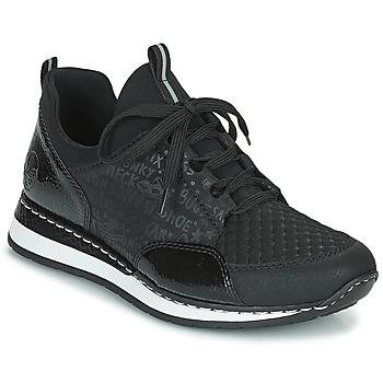 鞋子 女士 球鞋基本款 Rieker 瑞克尔 REGARDA 黑色