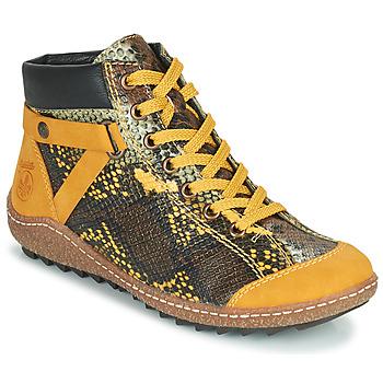 鞋子 女士 短筒靴 Rieker 瑞克尔 LONGTER 黄色 / 黑色