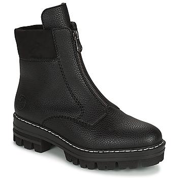 鞋子 女士 短筒靴 Rieker 瑞克尔 QUAMIN 黑色