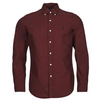 衣服 男士 长袖衬衫 Polo Ralph Lauren KAOLMA 波尔多红