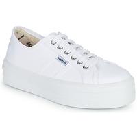 鞋子 女士 球鞋基本款 Victoria 维多利亚 BLUCHER LONA PLATAFORMA 白色