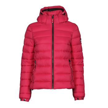 衣服 女士 羽绒服 Superdry 极度干燥 CLASSIC FUJI PUFFER JACKET 玫瑰色