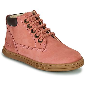 鞋子 女孩 短筒靴 Kickers TACKLAND 玫瑰色