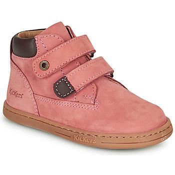 鞋子 女孩 短筒靴 Kickers TACKEASY 玫瑰色