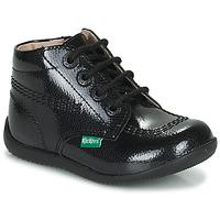 鞋子 女孩 短筒靴 Kickers BILLISTA ZIP 黑色