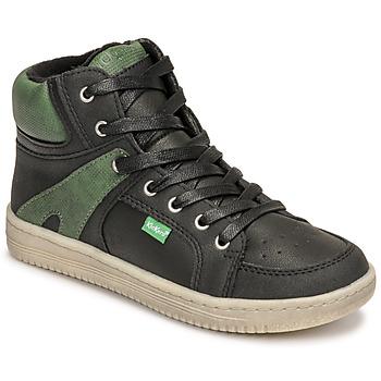 鞋子 男孩 高帮鞋 Kickers LOWELL 黑色 / 绿色