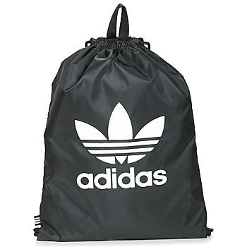 包 双肩包 Adidas Originals 阿迪达斯三叶草 GYMSACK TREFOIL 黑色
